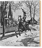 Paul Reveres Ride, 1775 Wood Print