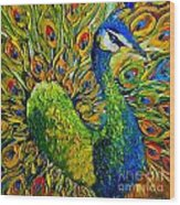 Peacock Wood Print
