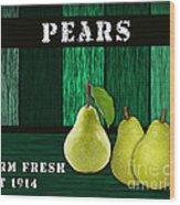 Pear Farm Wood Print