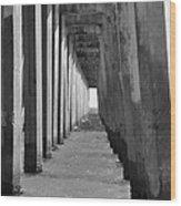 Pensacola Beach Pier Wood Print