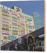 5 Pointz Graffiti Art 2 Wood Print