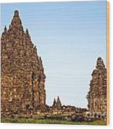 Prambanan Temple In Indonesia Wood Print