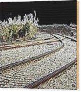 Rails Of Hope Wood Print