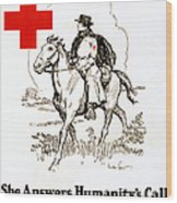 Red Cross Poster, C1917 Wood Print