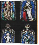 Religious Stained Glass Windows Wood Print