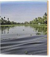 Ripples On The Saltwater Lagoon Wood Print