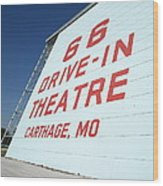 Route 66 Drive-in Theatre Wood Print