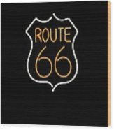 Route 66 Edited Wood Print