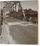 Route 66 - One Lane Bridge Wood Print