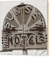 Route 66 - Sunset Motel Wood Print