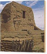 Ruins Of The Pecos Pueblo Mission Wood Print
