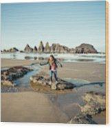 Seal Rock Beach Wood Print