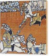 Shahnameh Ferdowsi Rostam And Sohrab Photos Of Persian Antique Rugs Kilims Carpets  Wood Print