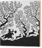 Silhouette, 19th Century Wood Print
