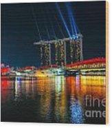 Singapore City Skyline Wood Print