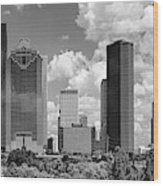Skyscrapers In A City, Houston, Texas Wood Print