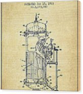 Space Capsule Patent From 1963 Wood Print by Aged Pixel