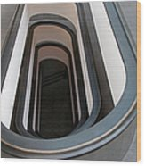 Spiral Staircase At The Vatican Wood Print