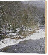 Spring Snow Williams River  Wood Print