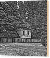 5 Star Barn Bw Wood Print