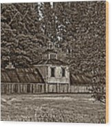 5 Star Barn Monochrome Wood Print