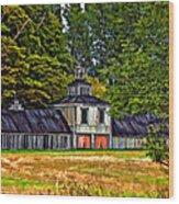 5 Star Barn Paint Filter Wood Print
