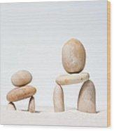Stones Stacked. Wood Print