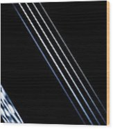 5 Strings Of Light Wood Print