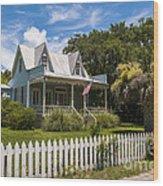 Sullivan's Island Tin Roof Story Book Cottage Wood Print