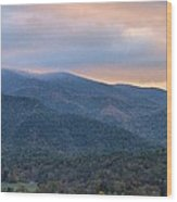 Sunrise In Cades Cove Wood Print