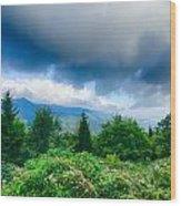 Sunrise Over Blue Ridge Mountains Scenic Overlook  Wood Print