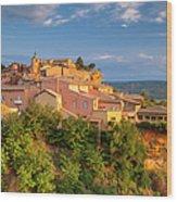 Sunrise Over Roussillon Wood Print