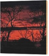 Sunrise Over The Fields Of Athenry Wood Print