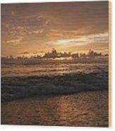 Sunrise Wood Print by Roque Rodriguez