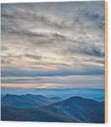 Sunset View Over Blue Ridge Mountains Wood Print