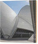 Sydney Opera House Detail In Australia  Wood Print