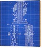 Tesla Electro Magnetic Motor Patent 1889 - Blue Wood Print
