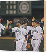 Texas Rangers V Seattle Mariners Wood Print
