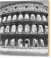 The Majestic Coliseum - Rome Wood Print