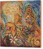 The Shining Of Jerusalem Wood Print