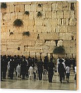 The Wailing Wall Wood Print