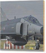 Turkish Air Force F-4 Phantom At Konya Wood Print