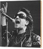 U2 - Bono Wood Print