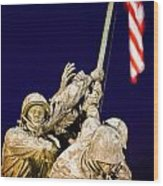 Us Marine Corps Memorial Wood Print
