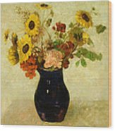 Vase Of Flowers Wood Print by Odilon Redon