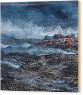 Volcano Eruption At The Holuhraun Wood Print