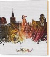 Warsaw City Skyline Wood Print