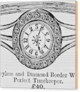 Watch Bracelet, 1891 Wood Print