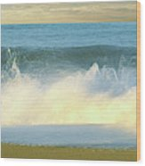 Waves Breaking On The Beach, Playa La Wood Print