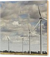 Wind Powered Electric Turbine Wood Print